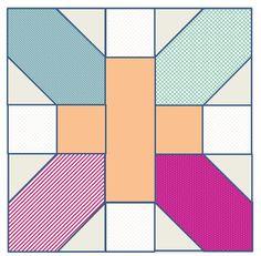 ' X and + (plus) ' quilt block