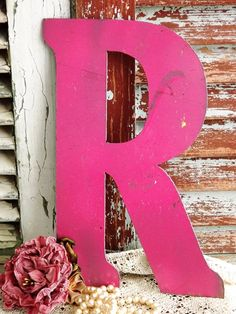 Letter R Initial R Vintage Metal Sign by by AVintageObsession, $29.95