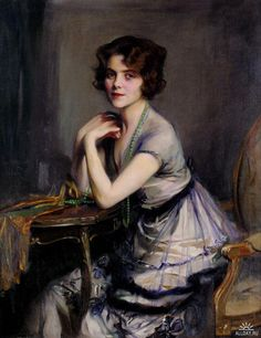 """Portrait of a Lady (c. 1920) by Philip Alexius de László (1869-1937)."