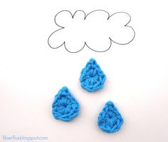Little Raindrops (Free Crochet Pattern)