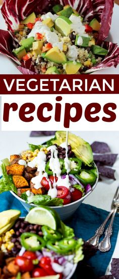 Looking to add more plant-based foods  to your diet? These vegetarian recipes are sure to please! #recipes  #easyrecipes #funrecipes #deliciousrecipes #recipeideas #easyrecipeideas  #yummyrecipes #cooking #snacks #healthyeating #vegetarian #meatless #plantbased