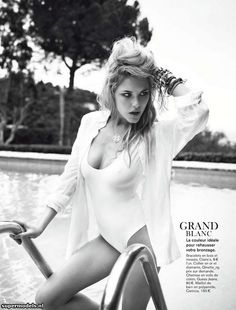 Ashley Smith in 'Plein Soleil' - Photographed by Patrik Sehlstedt (Glamour France August 2012)    Complete shoot after the click...