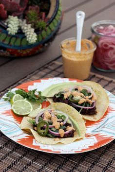 Slow-Cooked Black Bean Tacos with Vegan Chipotle Cream {Gluten-free + Vegan} by Tasty Yummies, via Flickr