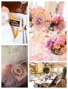 Linen, Lace, & Love: Shabby Chic Crown Bridal Shower #bridal #shower #shabbychic #flowers