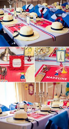 An incredible Madeline themed birthday party: each guests gets a cape and hat