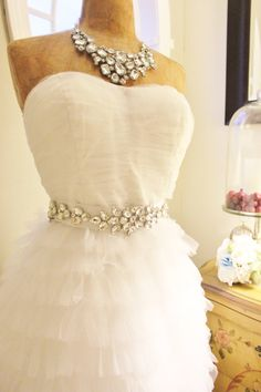 Bridal Rhinestone Wedding Sash Belt
