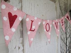 heart burlap, garland banner, valentine day, heart banner, candi, grad parties, burlap banners, glitter letter, paint burlap