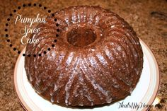 Pumpkin Spice Cake - Recipes, Food and Cooking