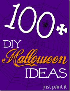 Wow! There are over 100 Halloween ideas here! Crafts, recipes, costumes, decorations. Such fun ideas!