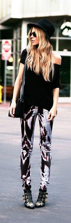 Edgy Boho in Black Fashion