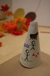 Activities: Make a Paper Plate Teepee craft is a great way to talk about indians and how they made teepees around Thanksgiving time.