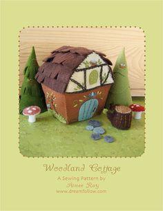 felt Woodland Cottage PDF pattern by littledear on Etsy, $6.00