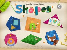Best apps for preschoolers to teach math and counting: Doodle Critter Math Shapes app