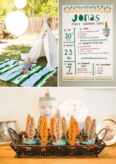 Southwestern Style Pow Wow First Birthday
