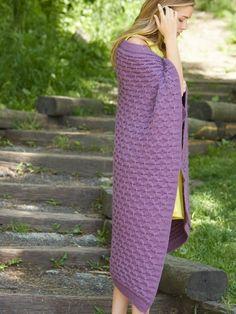 Cushy Smocked Throw and Tea Cozy | Yarn | Free Knitting Patterns | Crochet Patterns | Yarnspirations