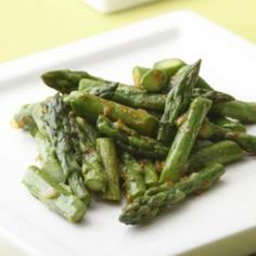 Asparagus with Curry Butter  A touch of curry-infused butter dresses sauteed asparagus.  @eatingwell #asparagus