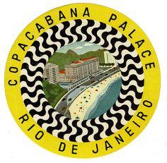 #travelcolorfully vintage copacabana palace luggage label