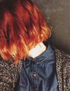 red ombre short hair, ombre short hair red, red hair ombre short, hair inspir, red ombré, short red ombre hair