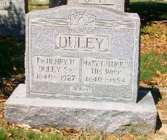 Western Kentucky Genealogy Blog: Tombstone Tuesday - Dr. Henry H. and Mary L. Duley #genealogy #familyhistory