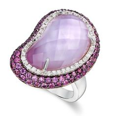 Peter Lam Glam Amethyst and Sapphire Ring