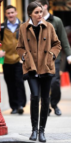 oliviapalermo, camel, fashion, style, winter looks, outfit, olivia palermo, boots, coat
