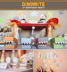 Dinomite Dinosaur Birthday Party via Kara's Party Ideas karaspartyideas.com #dino #dinosaur #boy #party #ideas