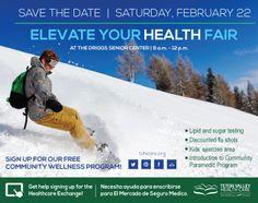 Join us for our Elevate Your Health Fair Feb. 22, 2014! #toyourhealth #healthfair