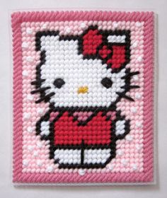 Hello Kitty tissue box cover in plastic canvas PATTERN ONLY. $3.00, via Etsy.
