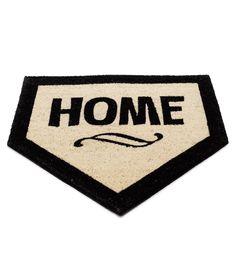 Home Plate Doormat flat