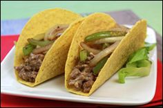 Low-Calorie Taco Recipes, Greek Tacos, Philly Cheesesteak Tacos | Hungry Girl