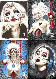 Day of the Dead Sugar Skull ladies 12x18 by ShayneoftheDead, $15.00