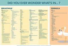 What's in breastmilk and formula?