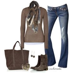 shades of brown fall clothing, fall fashions, style, casual fall, fall outfits, american vintage, fashion fall, brown boots, fall fashion trends