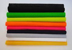 100 Wool Felt Squares  10 pieces 20x20cm 8x8  by CloudCraftShop, £11.50