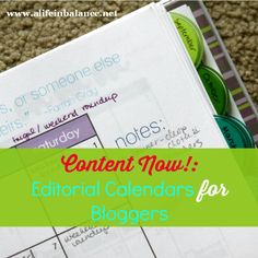 editorial calendars for bloggers