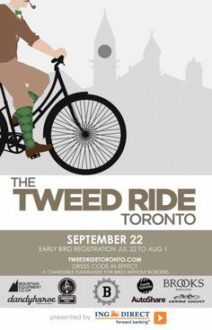Commissioned poster for Tweed Ride Toronto fundraiser