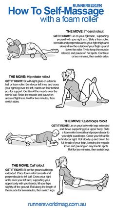 I have one of these from my trainer, works great.How To Self-Massage with a foam roller