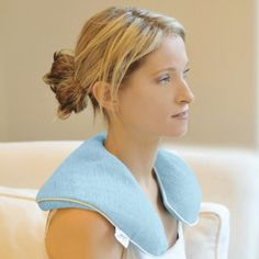 Neck & Shoulder Wraps by bucky: Used in the finest spas to relax clients these Microwaveable Neck & Shoulder Wraps are perfect for soothing relaxation at home and at the office. Thanks to Elizabeth Silbermann! #Neck_Wrap