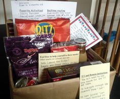 gift, babysitt box, babysitters, famili, boxes, parent, house rules, babysitting, kid