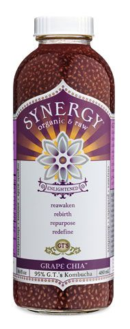 In love with this drink - grape juice, chia seeds and Kombucha. Yum!