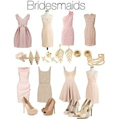 Mix & match bridesmaids dresses