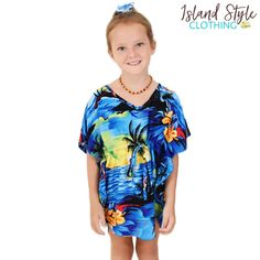 Pretty Blue Sunset Girls Kaftans / Ponchos. Awesome outfit for a beach wedding, cruise, family event, fancy dress or luau! Also exact matching kaftans for mummy available. Mens & Kids shirts #matchymatchy #mummyandme #mommyandme #hawaiiandress #islandstylelclothing #purplesunset #ladieskaftan #motherdaughtermatching #momandme #cruisewearoutfit #sunsetprint #beachwear #sunsetdress #purpleparty #luau #luaupartydress #beachcoverup #coverup #kaftan #poncho #girlsponcho #girlskaftan #familymatching