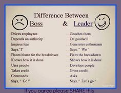 Bad boss vs awesome leader.