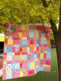 Simple quilt pattern with great fabric