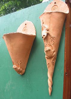 Woodlands Garden Pottery --  Wall Pockets