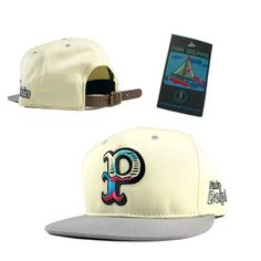 Pink Dolphin Snapback Hats White