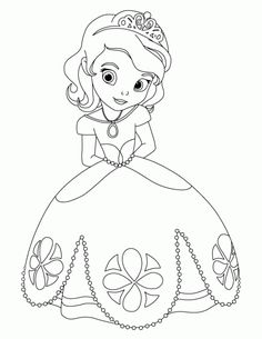 Princess Sofia the First Coloring Sheet