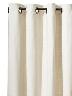 Drop cloth curtains from The Frugal Guide to Fancy Curtains : Decorating : HGTV