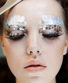 Sequin Eyes mermaid makeup, eye makeup, sequin, theatre makeup, halloween costumes, makeup art, avant garde, mermaid costumes, haute couture
