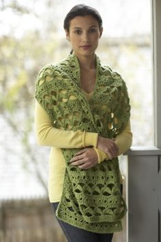 This lacy shawl is perfect for spring. As seen on the Martha Stewart Show.